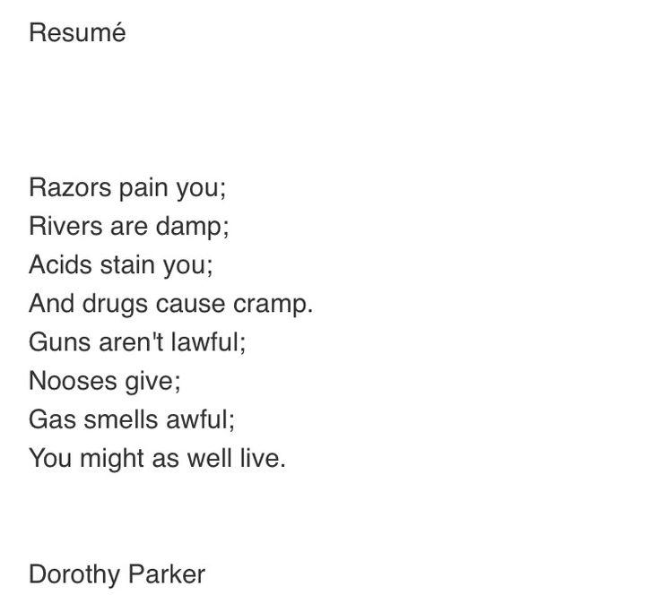 The 25+ best Dorothy parker ideas on Pinterest Design quotes - resume dorothy parker