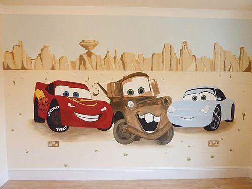 Joanna Perry Murals | Disney Cars Mural Part 76