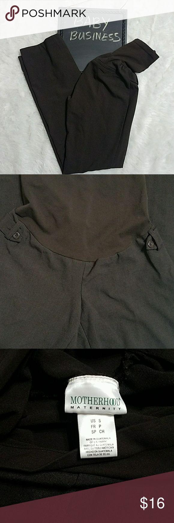 ??  Motherhood Maternity Dress Pants Dark Brown Slacks Inseam 21 inches Motherhood Maternity Pants Trousers