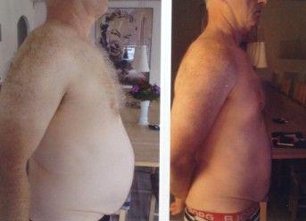 """Glad klient på slankekur  Jeg har lige haft besøg af en glad klient på hCGkuren ;-).  """"se lige her"""" sagde han, og lagde 2 billeder af sig selv på bordet. """"næsten 10 kilo på 3 uger, det virker ski""""    Da vi tog en bodyscanning, kunn"""