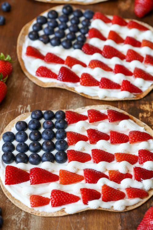 Patriotic Fruit PizzaReally nice recipes. Every hour.Show me  Mein Blog: Alles rund um die Themen Genuss & Geschmack  Kochen Backen Braten Vorspeisen Hauptgerichte und Desserts # Hashtag
