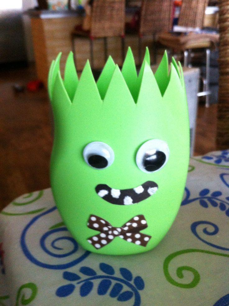 Frazer's toothbrush holder :)