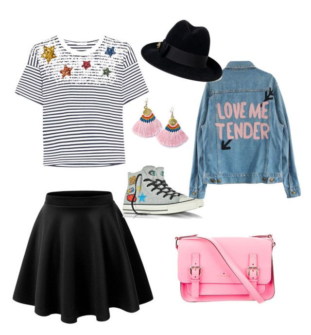 """Love is in the air"" by lula-kruta ❤ liked on Polyvore featuring Miu Miu, Converse, Kate Spade and Gucci"