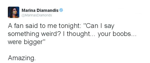 Marina and the Diamonds tweet