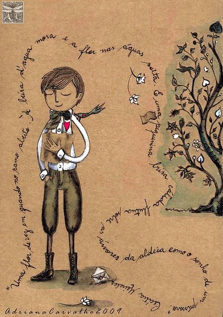 Fernando Pessoa menino antigo by Arte Voadeira, via Flickr