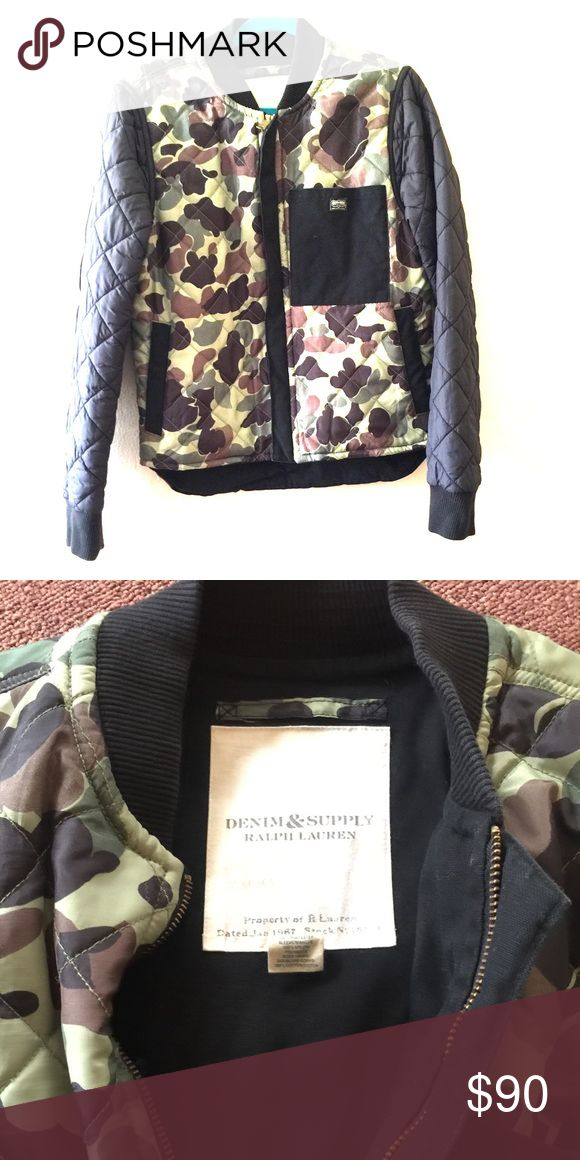 Ralp Lauren Denim Jaket My boyfriend wore it few times. This item is in excellent condition. You might mistake it for brandnew! Ralph Lauren Jackets & Coats Bomber & Varsity