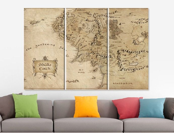 Pin on Map Canvas Prints
