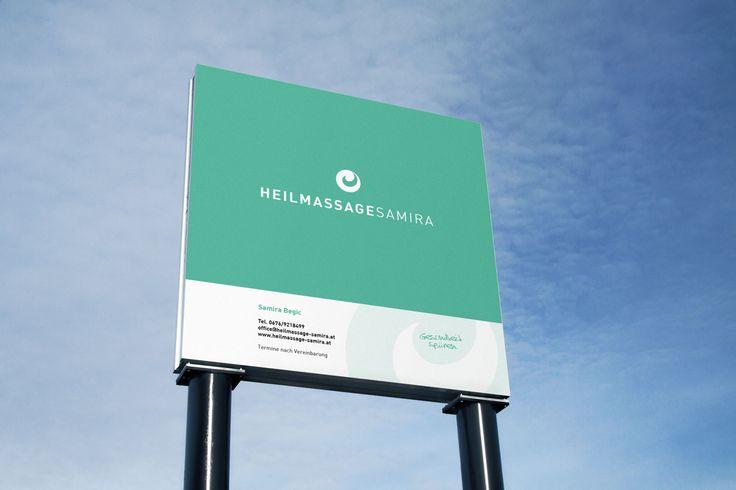 Firmentafel für HEILMASSAGESAMIRA #branding #grafikdesign #printdesign #corporatedesign #agenturpixualis #pixualis