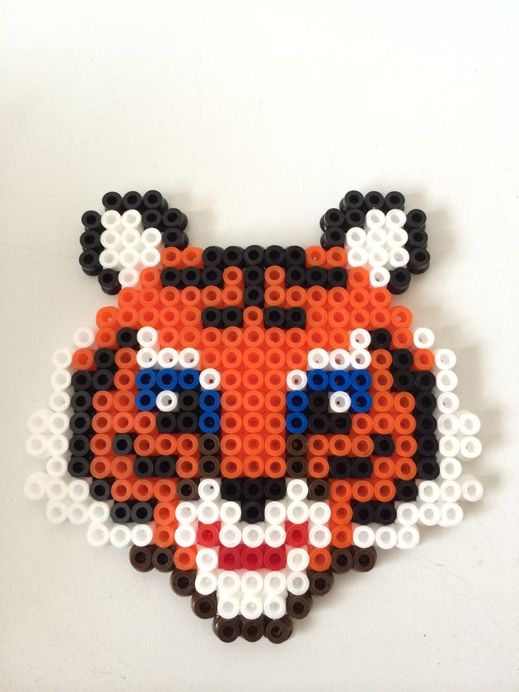 Tiger hama perler beads by Louise Nielsen