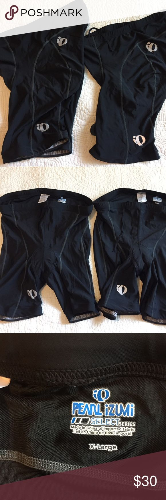 Pearl iZumi Men's Bike Shorts-bb Good used condition  No spots or holes  Both are XL Price is for both Pearl Izumi Shorts Athletic