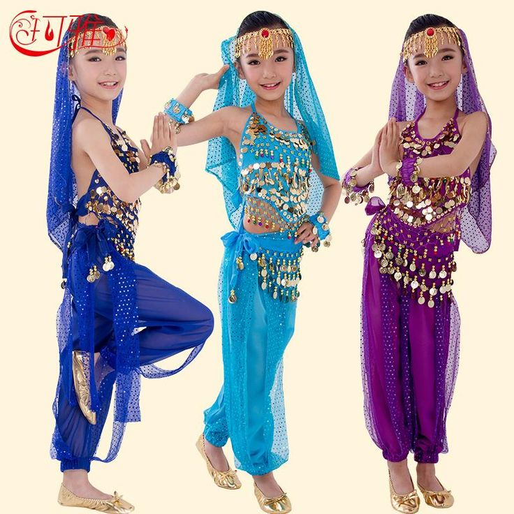 New Handmade Children Belly Dance Costumes Kids Belly Dancing Girls Bollywood Indian Performance Cloth Whole Set 6 Colors(China (Mainland))  sc 1 st  Pinterest & 13 best bollywood dress kid images on Pinterest | Bollywood dress ...