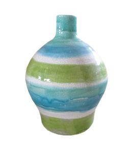 Moe's Home Collection Aqua Bands Vase Wide-Set of 2
