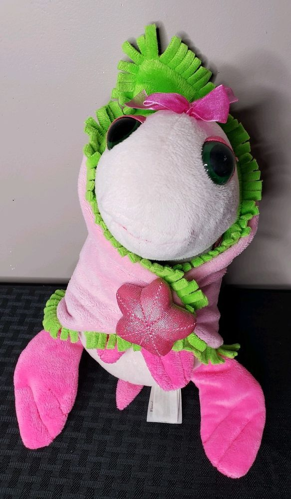 Details About Fiesta Babies Baby Pink Sea Turtle With Attached Green