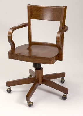 Silla de escritorio con ruedas de madera