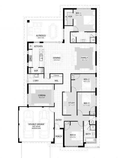 268 best Petite maisons images on Pinterest Floor plans, House - plan maison en u ouvert