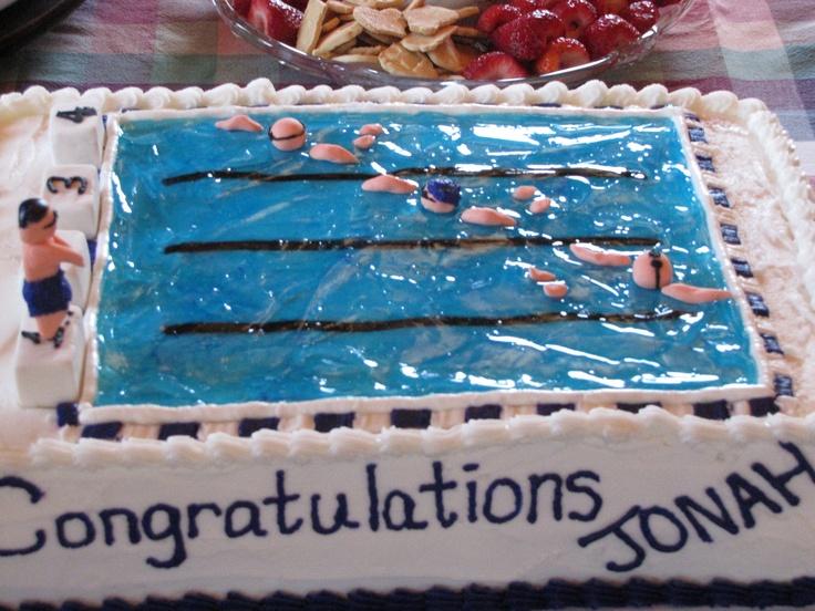 My wonder sisters Perfect Pool cake!