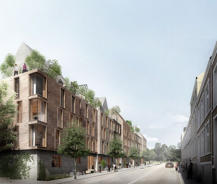 Designed by WE architecture. A competition for a new social housing complex in Aarhus, Denmark, has been won by WE Architecture, in collaboration with local practice JWH...