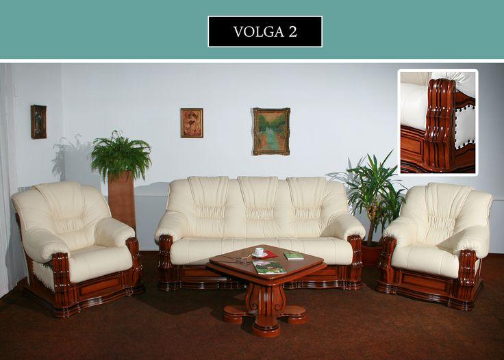 Canapea Piele 3 Locuri Volga 2 | Mobila Simex