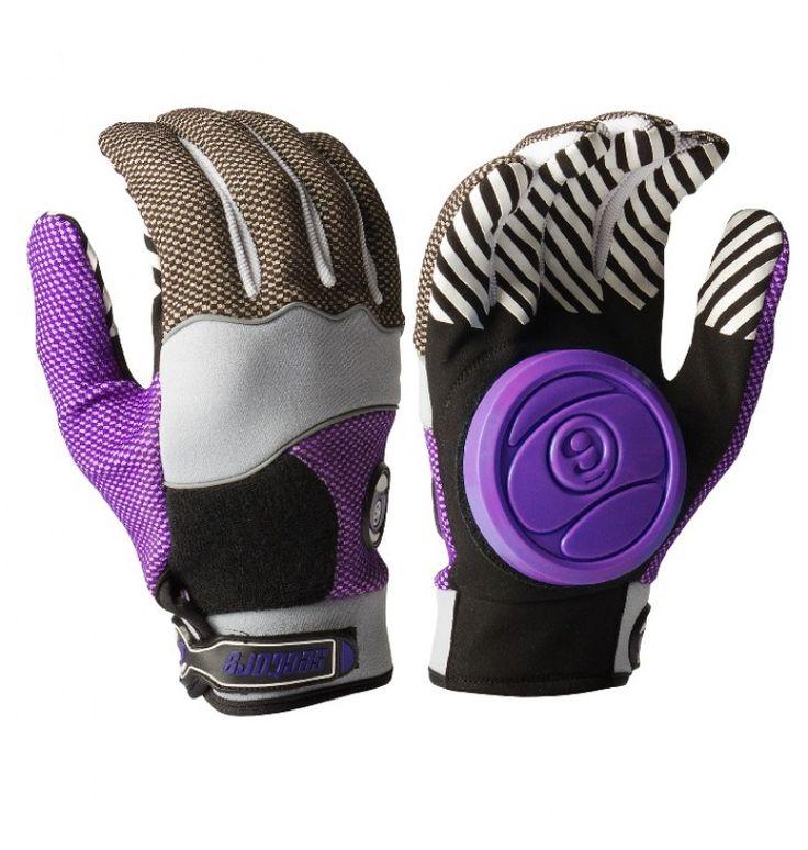 sector 9 purple apex longboard slide gloves