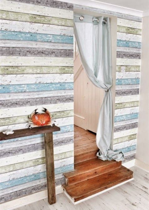 Weathered Wall Paneling : Weathered wood paneling can have both a beach or nautical