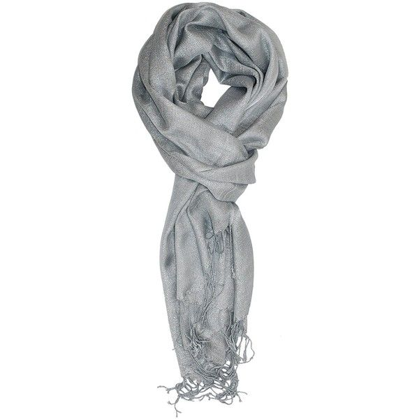 Ted and Jack Hollywood Dreams Sparkling Metallic Scarf ($13) ❤ liked on Polyvore featuring accessories, scarves, sparkly scarves, metallic shawl, silver shawl, metallic scarves and silver scarves