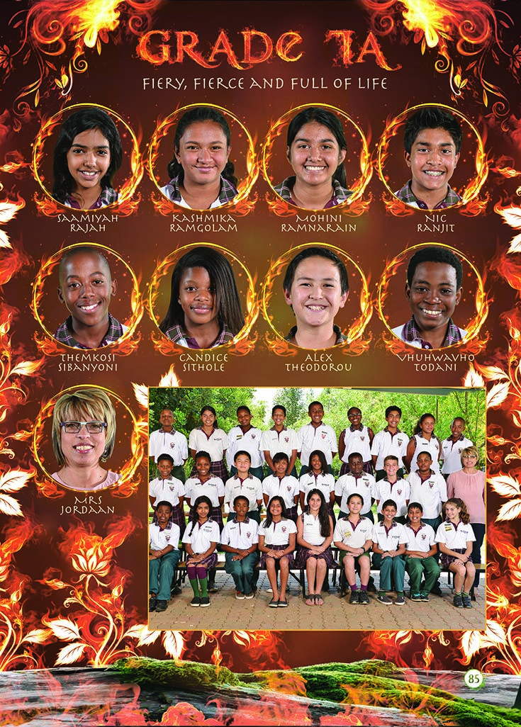 Yearbook Theme: Ecosystem - Grade 7 (fire)