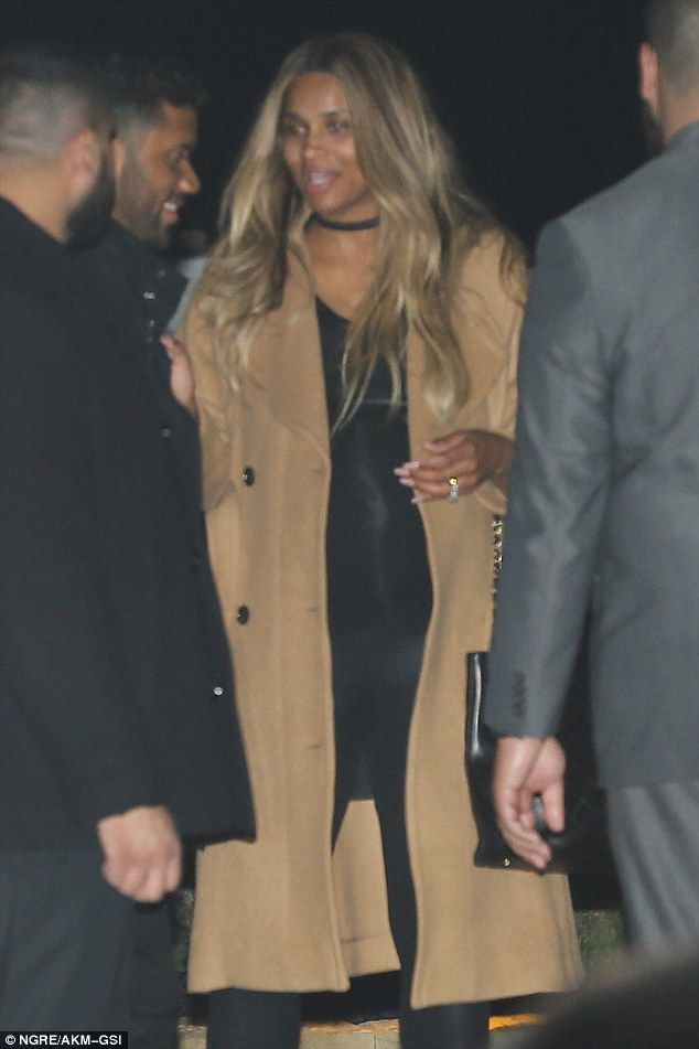 Ciara and husband Russell Wilson join friends for swanky dinner in LA #dailymail