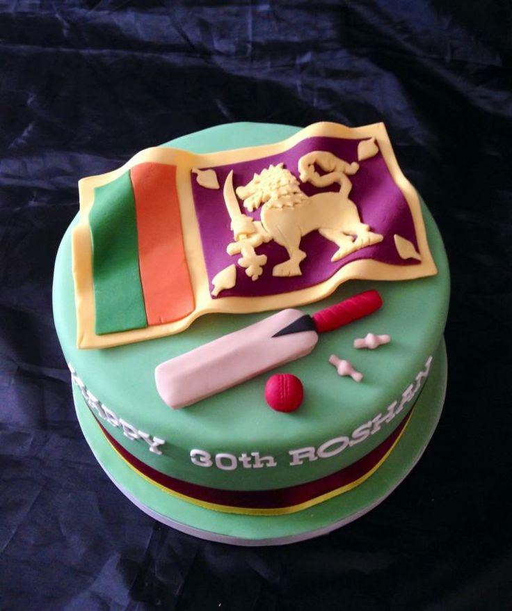 Srilankan cricket cake