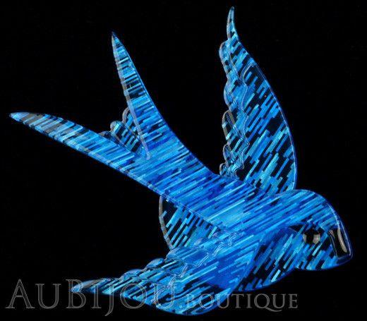 Erstwilder Bird Brooch Pin Bluebird of Happiness Blue