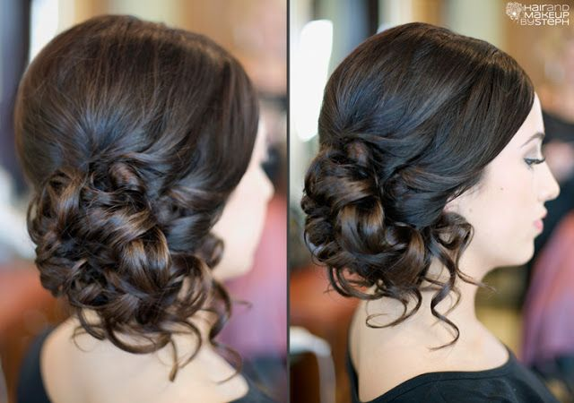 Such a soft, pretty upstyle for the #bride // Image, Hair and Make-up by Steph #hair #wedding #curls