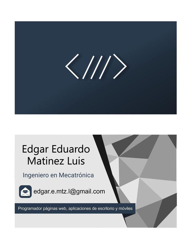 Un diseño para una tarjeta de presentación profesional. Un diseño plano pero con perspectivas de profundidad por la variación de colores y degradados. Un simbolismo adecuado para la informática y muestras solidas para la masculinidad y evolución.