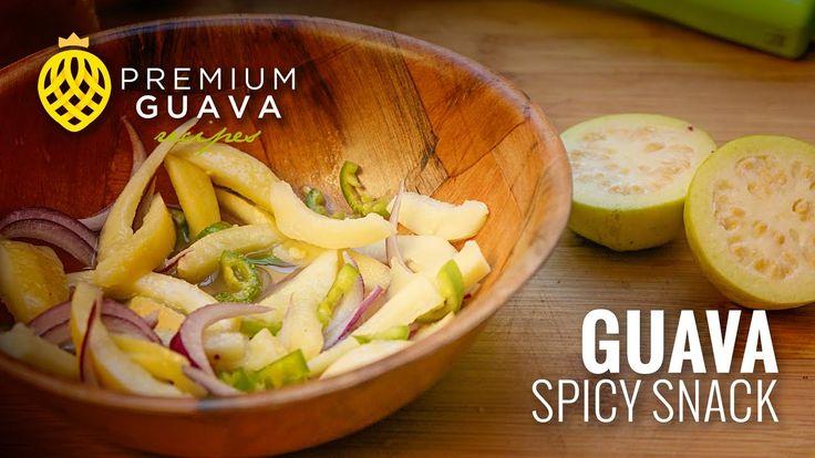 Guava spicy snack (Serrano peper and red onion) Recipe