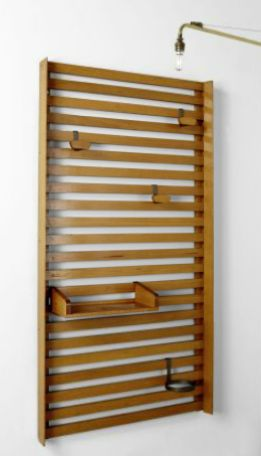 Wall mounted coat hanger, Designed by Le Corbusier & Charlotte Perriand, c.1955