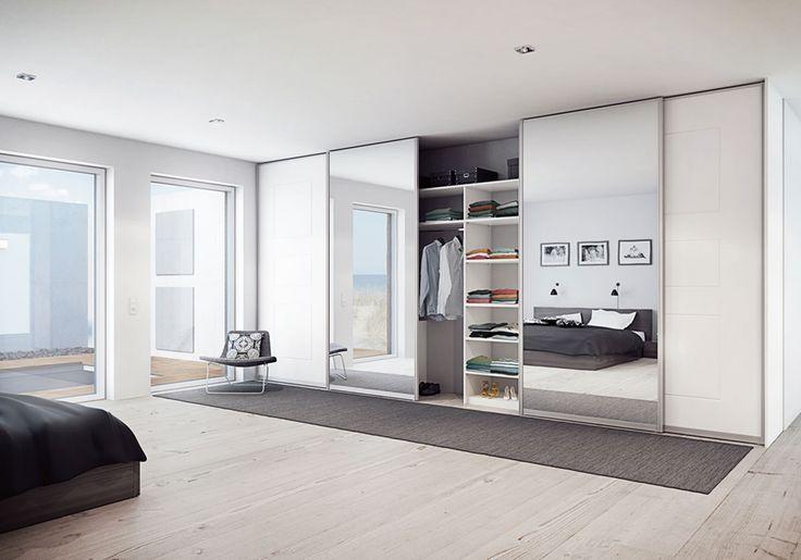 Garderob - Spegel - Trimline vit spegel | Ballingslöv