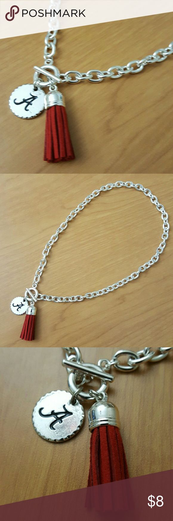 Alabama Crimson Tide Necklace Roll Tide NWT, beautiful set!  Feel free to ask any questions before purchasing.  Thanks for shopping my closet! Jewelry Necklaces