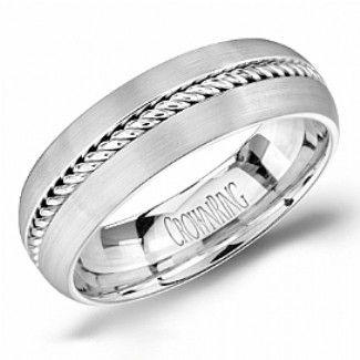 Crown Ring - Collections Wedding Bands Handwoven Hw 6103 M10