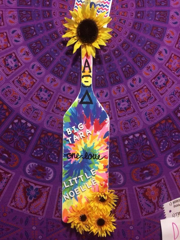 Hand painted tye-dye sorority paddle & 134 best Sorority images on Pinterest | Sorority crafts 21st ...