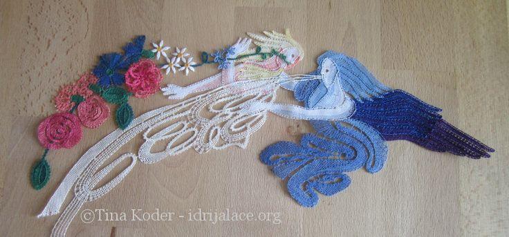 Čipka, oblikovana po motivu z Boticellijeve Pomladi, ki je nastala na povabilo k razstavi klekljane čipke   v Muzeju vezenine in tekstila v italijanskem mestecu Valtopina