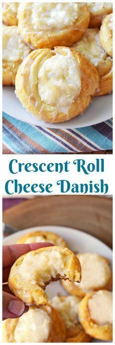 Easy Crescent Roll Cream Chese Danish Recipe. (easy finger food breakfast)