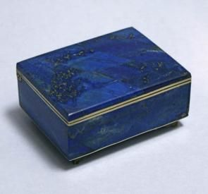 Antique Lapis Lazuli jewelry box
