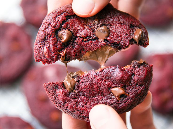 Nutella Stuffed Red Velvet Cookies... decadence knows no equal