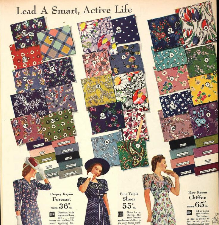 Excellent blog post including many images of 1940's fabrics!