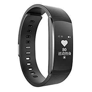 Pulsera de Actividad iWOWNfit I6 Pro Smartband Bluetooth 4.0 Impermeable IP67 Podómetro, Polsómetro, Monitor de Cardíaco, Monitor de Sueño, Recordatorio de Llamadas, Anti-perdida, Negro