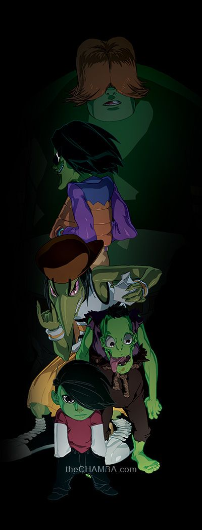 The Gangreen Gang by theCHAMBA on DeviantArt