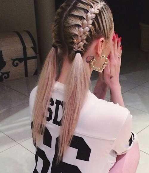 Sportliche Frisuren für Mädchen #sporty #Frisure…