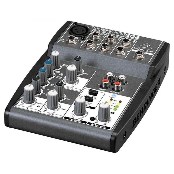 Consola XENYX-502, Behringer tan solo $148.000.