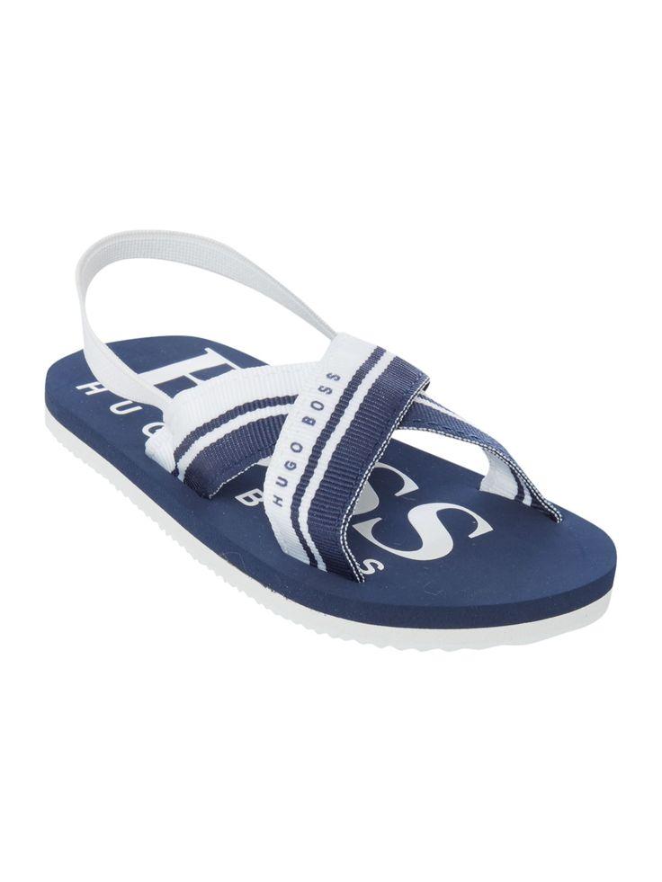 Flip Flops Logo En Bleu Marine - Patron 401 ardaWuQ
