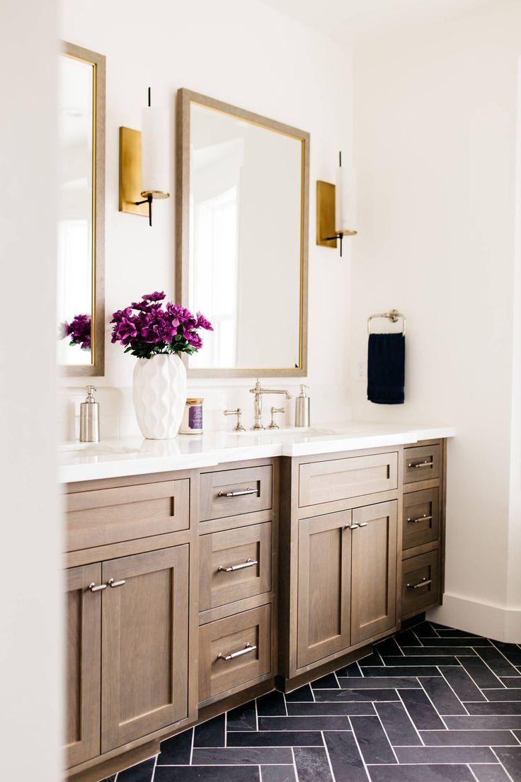 Bathroomdesigndarkfloorlightwalls modern bathroom design in
