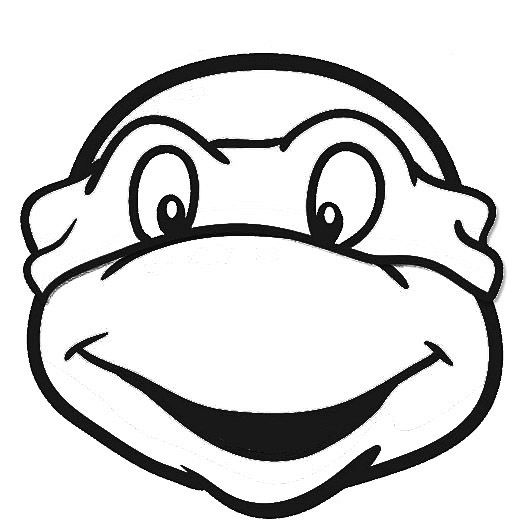 Ninja Turtle Face ninja turtles face outline - google search character ...