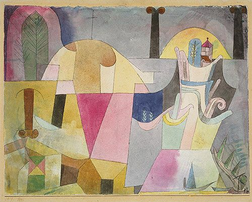 Paul Klee: Black Columns in a Landscape (1987.455.1)   Heilbrunn Timeline of Art History   The Metropolitan Museum of Art
